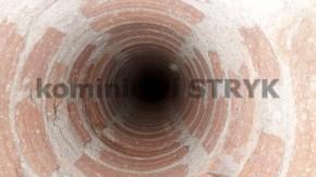 Ukázka frézovaného komínu, zbaveného dehtu, otvor vyhovující instalaci vložky průměru 180mm